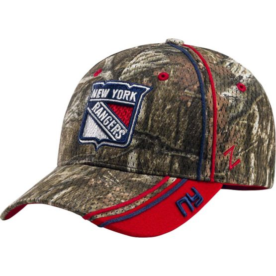 New York Rangers Mossy Oak Camo NHL Slash Cap at Legendary Whitetails