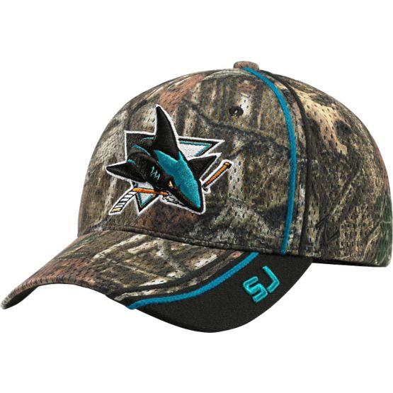 San Jose Sharks Mossy Oak Camo NHL Slash Cap at Legendary Whitetails