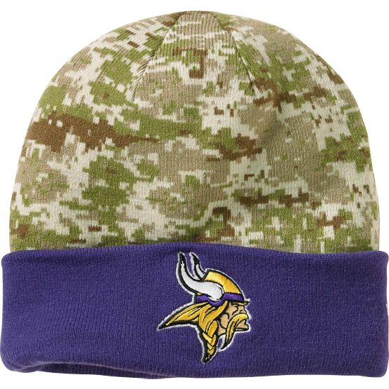 Men's New Era Minnesota Vikings Camo Knit Hat at Legendary Whitetails