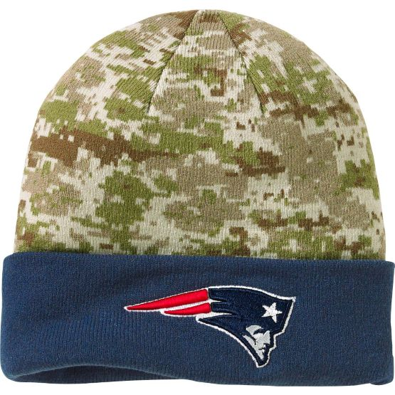 Men's New Era New England Patriots Camo Knit Hat at Legendary Whitetails