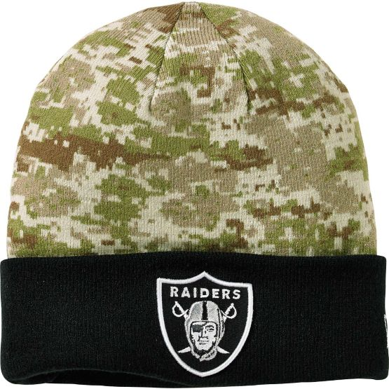 Men's New Era Oakland Raiders Camo Knit Hat at Legendary Whitetails