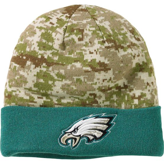 Men's New Era Philadelphia Eagles Camo Knit Hat at Legendary Whitetails