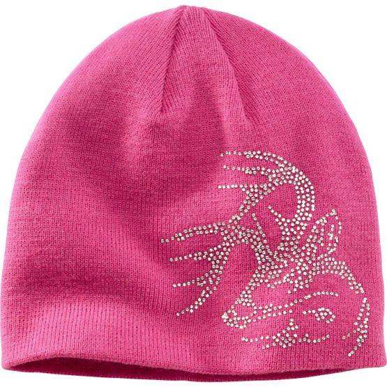 Women's Pink Bling Buck Beanie at Legendary Whitetails
