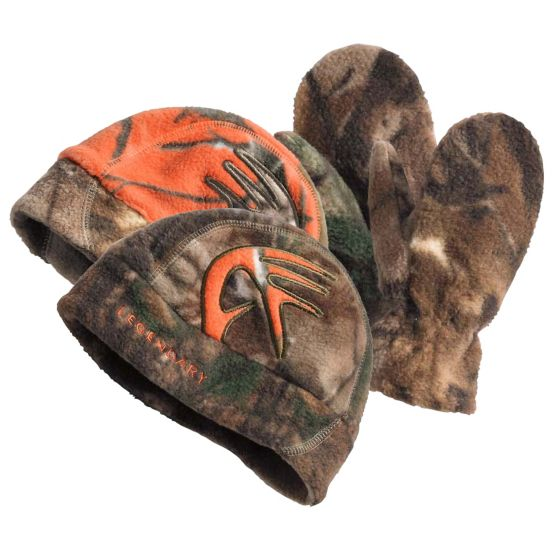 Youth Reversible Shed Cap & Mitten Set at Legendary Whitetails