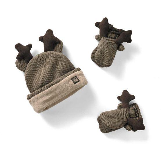 Toddler Knit Deer Hat & Mitten Set at Legendary Whitetails