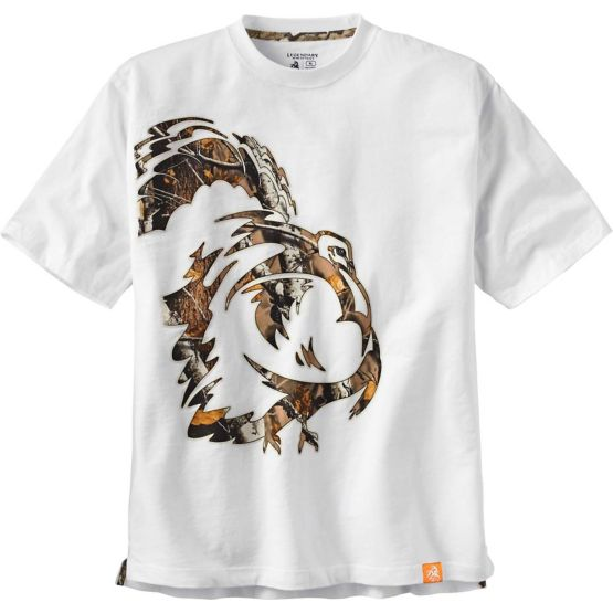 Men's Wild Turkey White Short Sleeve Camo T-Shirt at Legendary Whitetails