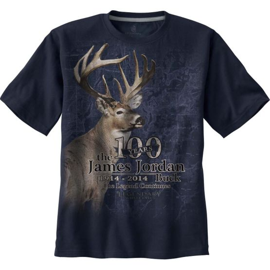 James Jordan 100th Anniversary Blue T-Shirt at Legendary Whitetails