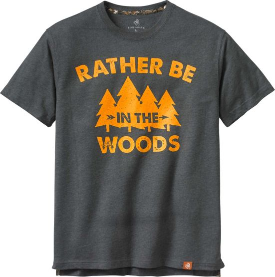 Men's Rather Be In The Woods Short Sleeve T-Shirt at Legendary Whitetails