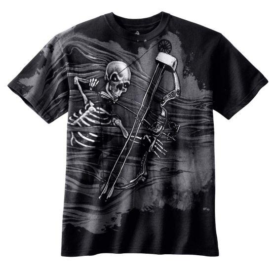 Boys Black Mr. Bones Short Sleeve T-Shirt at Legendary Whitetails