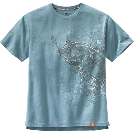 Men's Striking Bass Short Sleeve T-Shirt at Legendary Whitetails