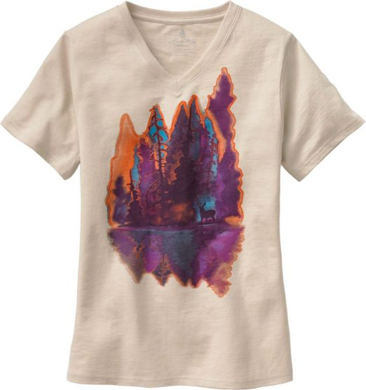 Ladies Painted Forest V-Neck T-Shirt at Legendary Whitetails