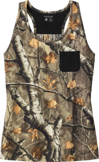 Ladies Oak Tree Reveal Big Game Camo Pocket Tank at Legendary Whitetails