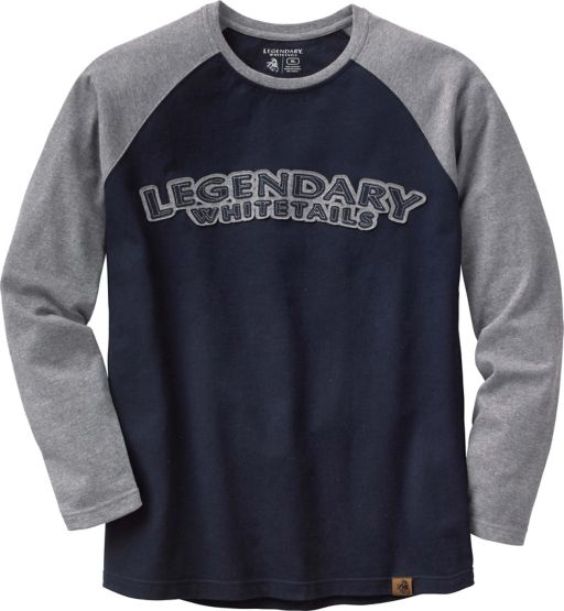 Men's Alpine Lodge Raglan Long Sleeve Crew at Legendary Whitetails