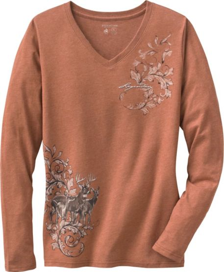 Women's Mystic Legends Long Sleeve V-Neck Shirt at Legendary Whitetails