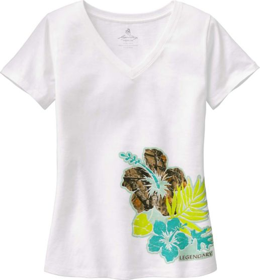 Ladies Camo Oasis V-Neck T-Shirt at Legendary Whitetails
