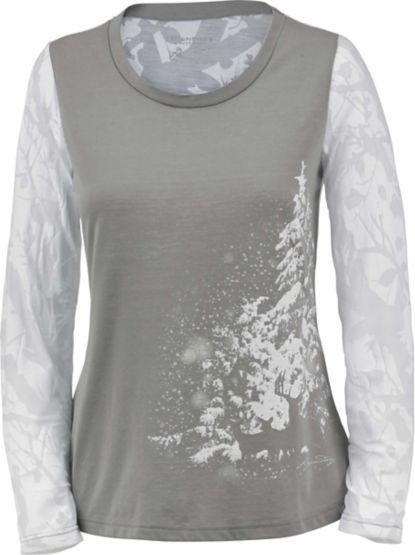 Ladies Trail Edge Big Game Camo Long Sleeve Shirt at Legendary Whitetails