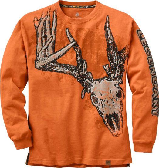 Men's Running Rebel Long Sleeve Deer T-Shirt at Legendary Whitetails