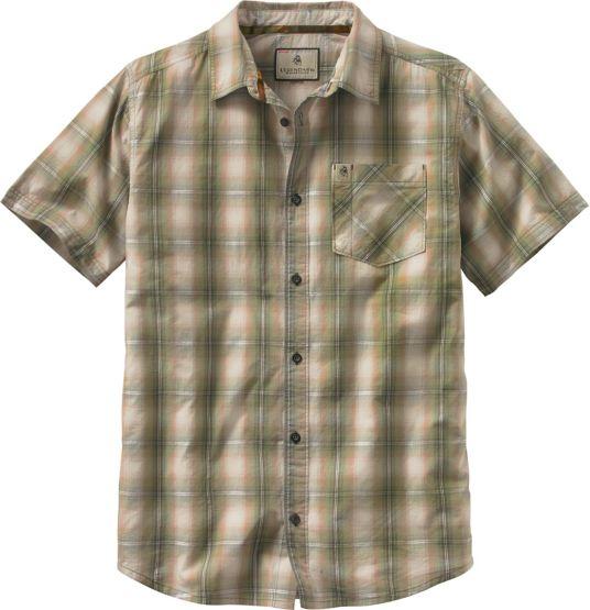 Men's Drifter Plaid Poplin Short Sleeve Shirt at Legendary Whitetails