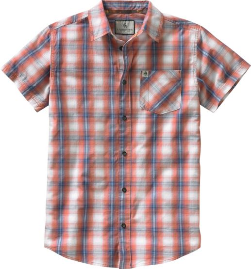 Men's Drifter Plaid Poplin Short Sleeve Shirt at Legendary Whitetails