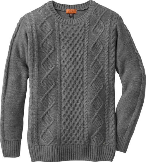 Women's Fireside Charcoal Cable Knit Sweater at Legendary Whitetails