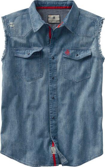 Men's Big Rig Denim Blowout Cutoff Shirt at Legendary Whitetails