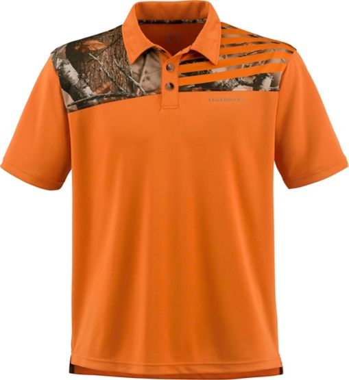 Men's Fast Lap Big Game Camo Polo at Legendary Whitetails