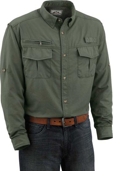 Men's Tamarack Trail Green Long Sleeve Field Shirt at Legendary Whitetails