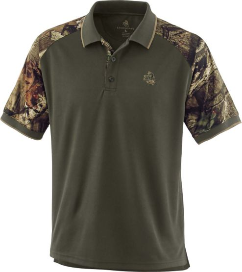 Men's Mossy Oak Camo Trimmed Pro Staff Polo at Legendary Whitetails