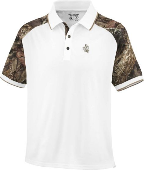 Men's Mossy Oak Camo Pro Staff Polo at Legendary Whitetails