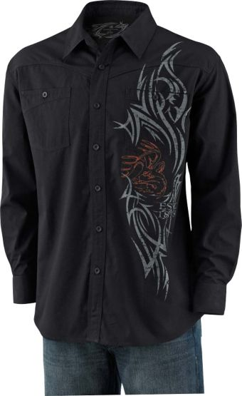 Men's Razor's Edge Slim Button Down Black Shirt at Legendary Whitetails