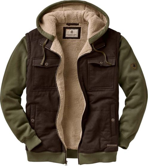Men's Treeline Sherpa Lined Hooded Jacket at Legendary Whitetails