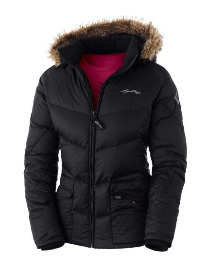 Women's Legendary Black Winter Down Jacket at Legendary Whitetails