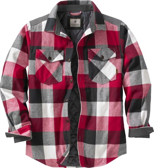Men's Woodsman Heavyweight Flannel Shirt Jacket at Legendary Whitetails