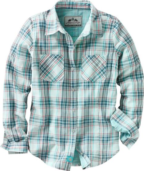Women's Lake Country Double Face Plaid Shirt at Legendary Whitetails