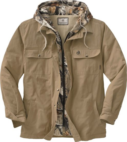 Men's Voyager Hooded Shirt Jacket at Legendary Whitetails