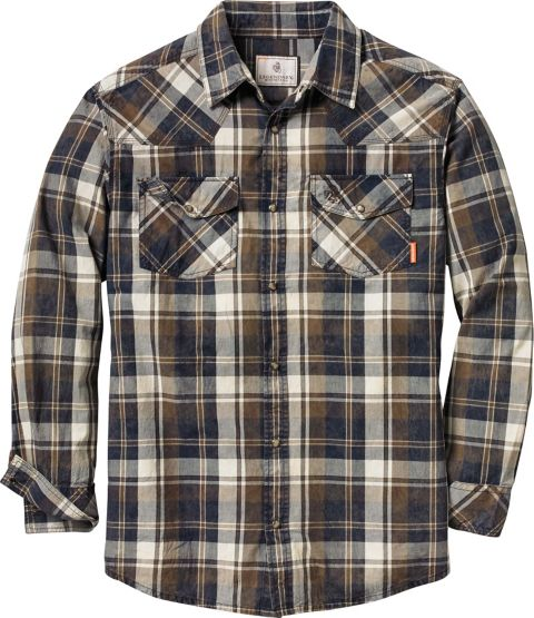 Men's Outlaw Western Plaid Shirt at Legendary Whitetails