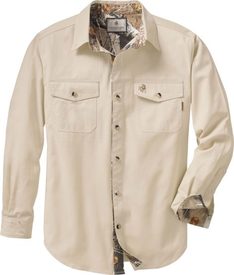 Men's Big Game Camo Twill Shirt at Legendary Whitetails