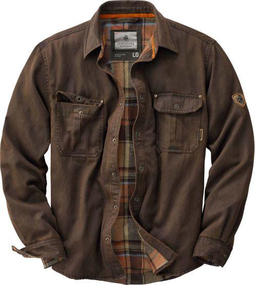Men's Journeyman Flannel Lined Rugged Shirt Jacket at Legendary Whitetails