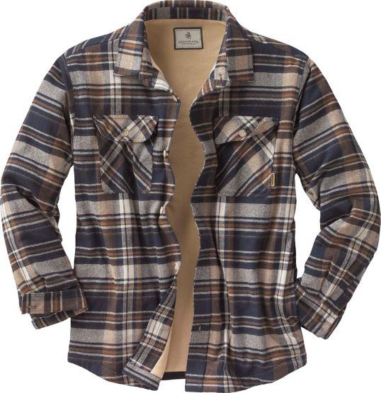 Men's Deer Camp Fleece Lined Flannel Shirt Jac at Legendary Whitetails