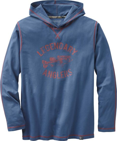 Men's Vintage Legendary Anglers Hooded T-Shirt at Legendary Whitetails