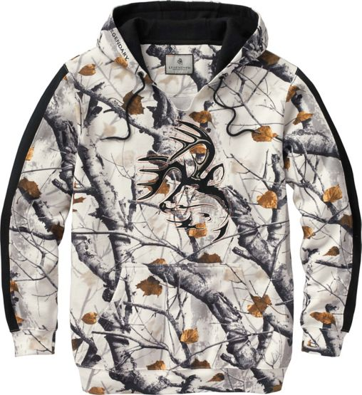 Men's Big Game Snow Camo Outfitter Hoodie at Legendary Whitetails