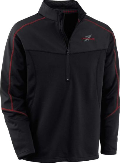 Men's Black Forest ½ Zip Performance Pullover at Legendary Whitetails