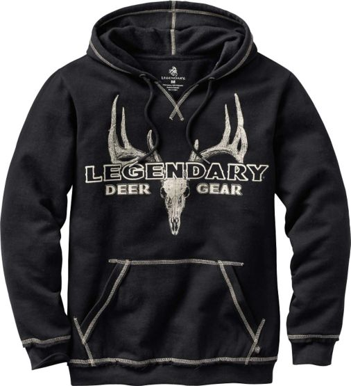 Men's Yardstick Black Hoodie at Legendary Whitetails