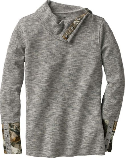 Ladies Hardwoods Camo Button Neck Thermal at Legendary Whitetails