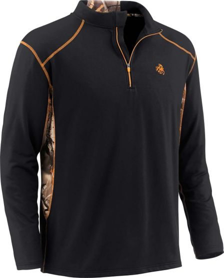 Men's Endurance Big Game Camo Performance ¼  Zip at Legendary Whitetails