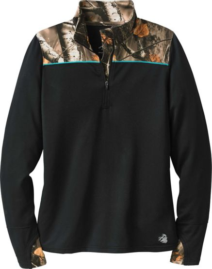 Ladies Full Range Big Game Camo Performance ¼ Zip at Legendary Whitetails