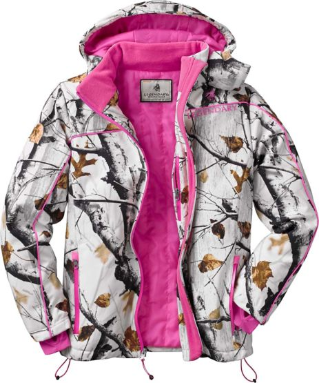 Women's Big Game Camo Snowdrift Softshell Jacket at Legendary Whitetails