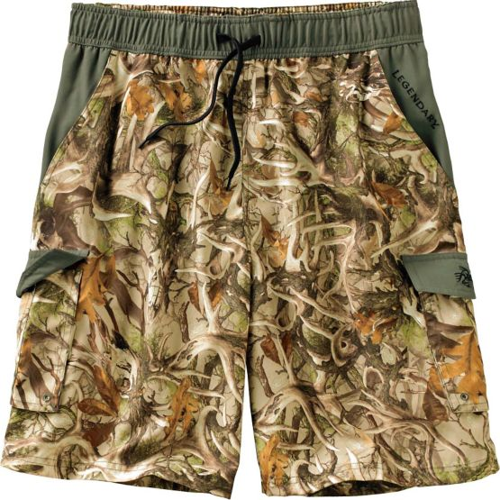 Men's Whitewater Legends Camo Swim Trunks at Legendary Whitetails