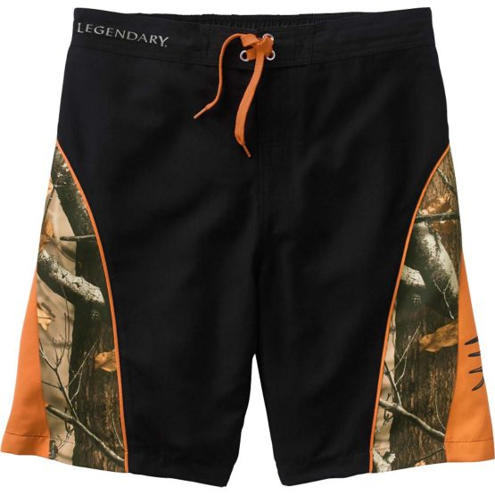 Men's Shoreline Big Game Camo Swim Trunks at Legendary Whitetails
