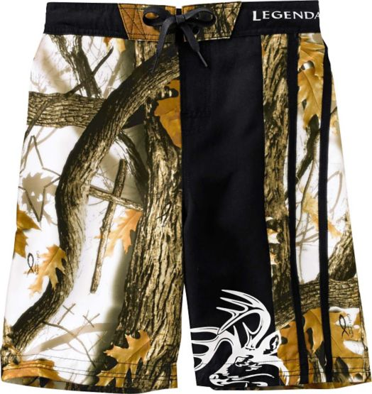 Boys God's Country Camo Lakeside Swim Trunks at Legendary Whitetails